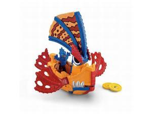 Fisher Price Imaginext Sea Dragon Boat Sail Pops Open