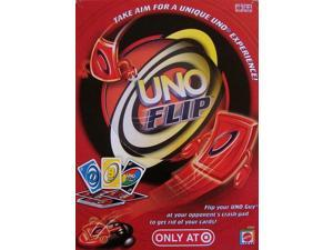 Mattel Uno Flip Classic Card Game with Launcher Family Fun
