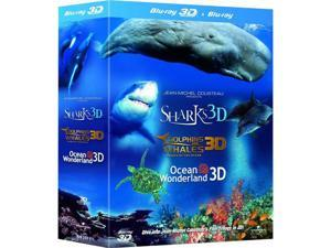 Jean-Michel Cousteau's Film Trilogy 3D Blu-ray Box Set (Dolphins & Whales / Sharks / Ocean Wonderland) [Region-Free]