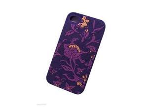 Lucky Brand Bali Batik Print Hard Case for Apple iPhone 4/4S - Purple