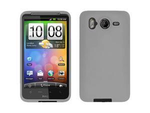 Amzer Silicone Skin Jelly Case - Grey For HTC Desire HD