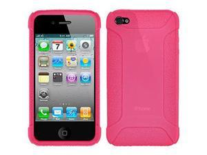 Amzer Silicone Skin Jelly Case - Baby Pink For iPhone 4