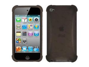 Amzer Silicone Skin Jelly Case - Grey For iPod Touch 4th Gen