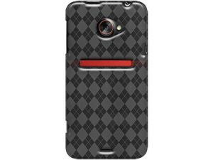 Amzer Luxe Argyle High Gloss TPU Soft Gel Skin Case - Smoke Grey For HTC EVO 4G LTE