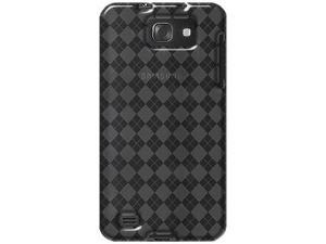 Amzer Luxe Argyle High Gloss TPU Soft Gel Skin Case - Smoke Grey For Samsung Galaxy S II Skyrocket HD SGH-I757