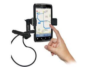 Amzer® Lighter Socket Phone Mount with Charging & Case System For Motorola ATRIX 2 MB865