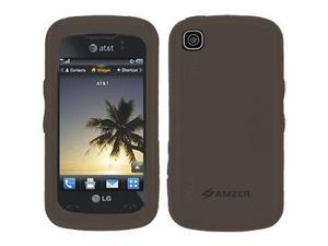 Amzer Silicone Skin Jelly Case - Grey For LG Encore GT550