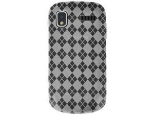 Amzer Luxe Argyle High Gloss TPU Soft Gel Skin Case - Clear For Samsung Focus I917