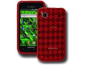 Amzer Luxe Argyle Skin Case - Red For Samsung Vibrant T959,Samsung Galaxy S 4G SGH-T959V