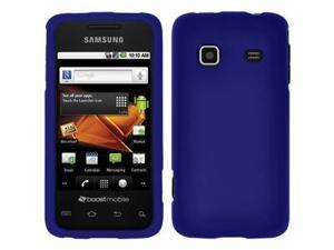 Amzer Rubberized Blue Snap On Crystal Hard Case For Samsung Galaxy Prevail