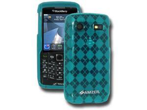 Amzer Luxe Argyle Skin Case - Blue For Blackberry Pearl 9100,Blackberry Pearl 9105