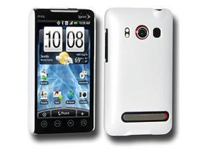 Amzer Simple Click On Case with Screen Protector - Rubberized White For HTC EVO 4G