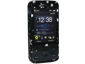 Amzer Stars Black Snap On Crystal Hard Case For HTC Touch Pro