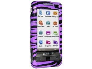 Amzer Zebra Print Purple Snap On Crystal Hard Case For Samsung Omnia SCH-i910,Samsung Omnia SGH-i900