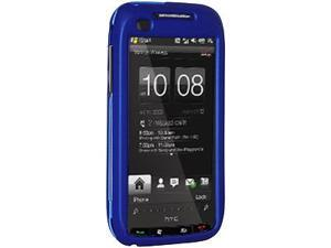 Amzer Rubberized Blue Snap On Crystal Hard Case For Verizon HTC Touch Pro 2
