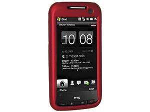 Amzer Rubberized Red Snap On Crystal Hard Case For Sprint HTC Touch Pro 2
