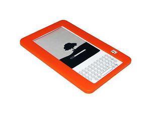 Amzer® Silicone Skin Jelly Case - Orange For Amazon Kindle 2