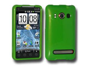Amzer Polished Green Snap On Crystal Hard Case For HTC EVO 4G
