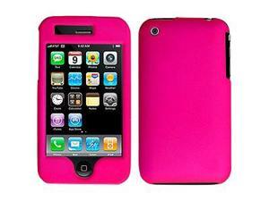 Amzer Rubberized Hot Pink Snap On Crystal Hard Case For iPhone 3G,iPhone 3G S