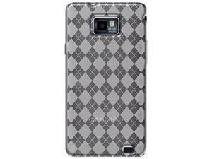 Amzer Luxe Argyle High Gloss TPU Soft Gel Skin Case - Hot Pink For Samsung GALAXY S II GT-I9100