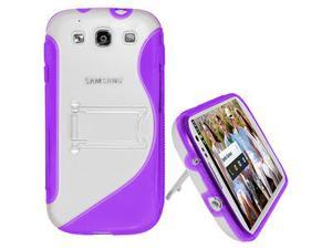 Amzer Protective TPU Case with Stand ® Purple For Samsung GALAXY S III GT-I9300