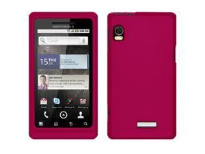 Amzer Rubberized Hot Pink Snap On Crystal Hard Case For Motorola Droid 2 A955