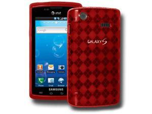 Amzer Luxe Argyle Skin Case - Red For Samsung Captivate i897