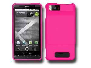 Amzer Rubberized Hot Pink Snap On Case For Motorola Milestone X,Motorola Droid X2 MB870