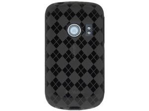 Amzer Luxe Argyle High Gloss TPU Soft Gel Skin Case - Smoke Grey For Huawei Comet U8150