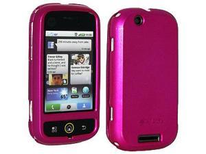Amzer Polished Rose Pink Snap On Crystal Hard Case For Motorola CLIQ MB200