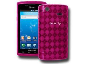 Amzer Luxe Argyle Skin Case - Hot Pink For Samsung Captivate i897