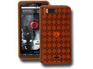 Amzer Luxe Argyle Skin Case - Orange For Motorola Milestone X,Motorola Droid X2 MB870