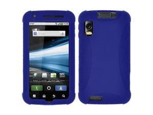 Amzer Silicone Skin Jelly Case - Blue For Motorola ATRIX 4G MB860