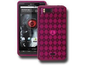 Amzer Luxe Argyle Skin Case - Smoke grey For Motorola Milestone X,Motorola Droid X2 MB870