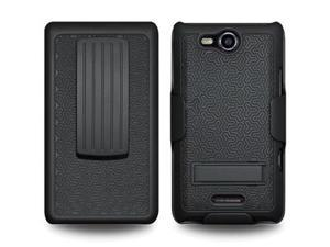 Amzer Shellster® with Kickstand - Black For LG Viper LS840,LG Connect 4G MS840