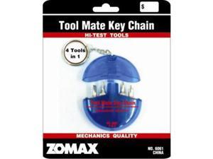 Screwdriver Key Chain With 4 Bits. Case Pack 48