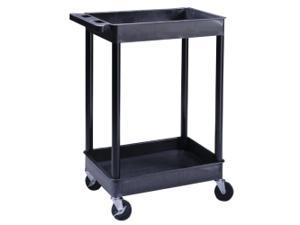 2-Shelf Plastic Utility Cart