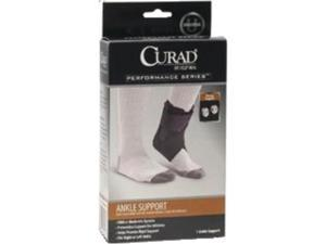 Ankle Support W/ Stays Curad Fits R/L Black