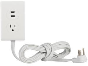 RCA PWA2USB6 1-Outlet Power Strip with 2 USB Ports