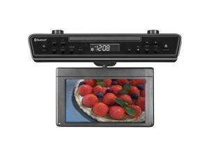 "SYLVANIA SKCR2706BT 10.2"" Under-Counter Bluetooth(R) Kitchen TV with Built-in DVD Player & HDMI(R)"
