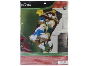 "Nativity Stocking Felt Applique Kit-18"""" Long"