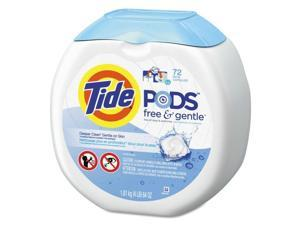 Free & Gentle Laundry Detergent, Pods, 72/Pack, 4/Carton 89892CT