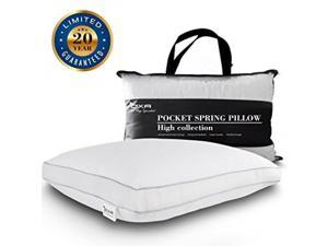 SPRING BED PILLOWS - Newest, Breathable, Neck and Back Pain-Relieving Sleeping Pillow with 40 Separate Pocket Springs