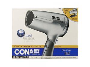 Conair 1875 Watt Ionic Technology Twist Folding Handle Hair Dryer