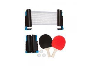 Trademark Innovations Anywhere Table Tennis Set with Paddles and Balls, Blue