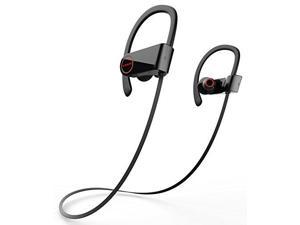 Liger BLAZE Bluetooth 4.1 Sweatproof Earbuds Noise Cancelling Headphones with Mic Black