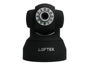 Loftek CXS 2200 Wireless/Wired Dual Audio Alarm Ip Camera - Black