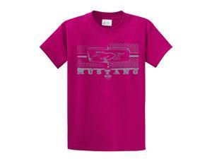 Ford T-Shirt Mustang Grill Legend Honeycomb Grill and Emblem-fuschia-xxxl