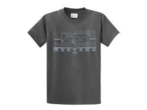 Ford T-Shirt Mustang Grill Legend Honeycomb Grill and Emblem-heathergray-xxxl