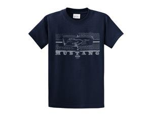 Ford T-Shirt Mustang Grill Legend Honeycomb Grill and Emblem-navy-large